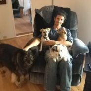3 x the love!  Lynne & Arthur adopt PISCES, LIBRA, & BISCUIT!